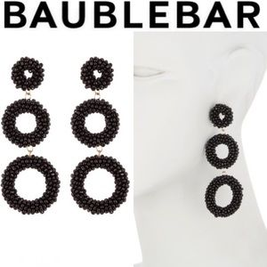 BAUBLEBAR Black Capella Drop Earrings